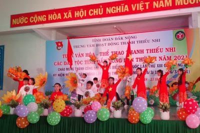 Tham gia Tuần Văn hóa -Thể thao thanh thiếu nhi các dân tộc tỉnh Đắk Nông